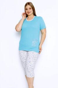 CHR 2252 niebieski DUMAN pizamy plus size hurtownia_wolka_pizamy