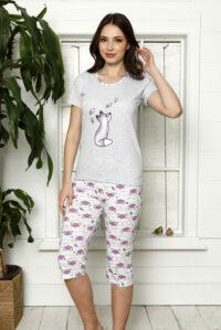 CHR 1266 fiolet piżama bawełaniana DUMAN pizamy hurtownia_wolka