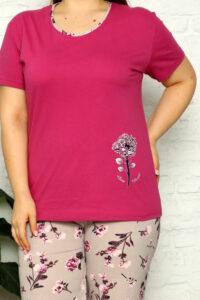 LAP 16251 fiolet piżama duzy rozmiar DUMAN pizamy hurtownia_wolka