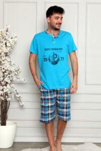 LAP 22252 niebieski hurtownia bielizny tureckiej_wolka_pizamy duman pizamy meskie hurtownia