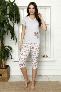 LAP 1267 czerwony hurtownia piżam damskich tanie piżamy damskie hurt producent piżam bawełnianych wólka hurtownia bielizny