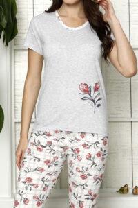 LAP 1267 czerwony hurtownia piżam damskich tanie piżamy damskie hurt producent piżam bawełnianych wólka hurtownia bielizny duman