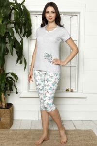 LAP 1267 mięta hurtownia piżam damskich tanie piżamy damskie hurt producent piżam bawełnianych wólka hurtownia bielizny