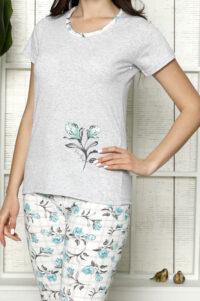 LAP 1267 mięta hurtownia piżam damskich tanie piżamy damskie hurt producent piżam bawełnianych wólka hurtownia bielizny duman