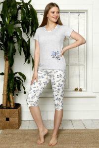 LAP 1267 niebieski hurtownia piżam damskich tanie piżamy damskie hurt producent piżam bawełnianych wólka hurtownia bielizny
