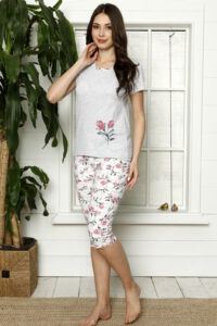 LAP 1267 róż hurtownia piżam damskich tanie piżamy damskie hurt producent piżam bawełnianych wólka hurtownia bielizny