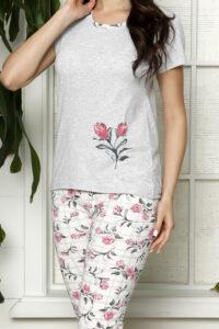 LAP 1267 róż hurtownia piżam damskich tanie piżamy damskie hurt producent piżam bawełnianych wólka hurtownia bielizny duman