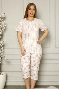 CHR 2257 roz hurtownia piżam damskich tanie piżamy damskie plus size hurt producent piżam bawełnianych wólka hurtownia bielizny
