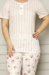 CHR 2257 roz hurtownia piżam damskich tanie piżamy damskie plus size hurt producent piżam plus size bawełnianych wólka hurtownia bielizny