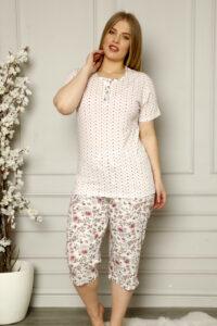 CHR 2258 hurtownia piżam damskich tanie piżamy damskie plus size hurt producent piżam bawełnianych wólka hurtownia bielizny
