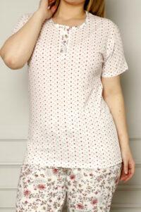 CHR 2258 hurtownia piżam damskich tanie piżamy damskie plus size hurt producent piżam plus size bawełnianych wólka hurtownia bielizny