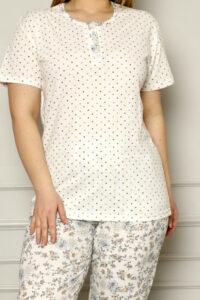 CHR 2259 hurtownia piżam damskich tanie piżamy damskie plus size hurt producent piżam plus size bawełnianych wólka hurtownia bielizny