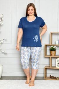 CHR 2261granat hurtownia piżam damskich tanie piżamy damskie plus size hurt producent piżam bawełnianych wólka hurtownia bielizny