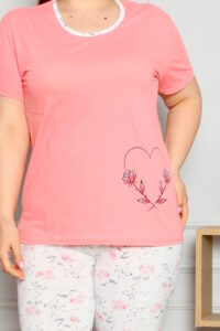 CHR 2262 morela hurtownia piżam damskich tanie piżamy damskie plus size hurt producent piżam bawełnianych wólka hurtownia bielizny