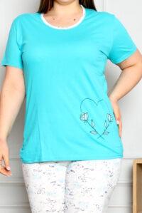 CHR 2262 zielen hurtownia piżam damskich duże rozmiary tanie piżamy damskie plus size hurt producent piżam bawełnianych wólka hurtownia bielizny