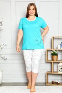 CHR 2262 zieleń hurtownia piżam damskich tanie piżamy damskie plus size hurt producent piżam bawełnianych wólka hurtownia bielizny
