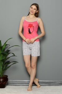 CHR 3252 koral hurtownia piżam damskich tanie piżamy damskie hurt producent piżam bawełnianych wólka hurtownia bielizny