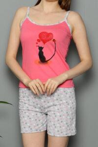 CHR 3252 koral hurtownia piżam damskich tanie piżamy damskie hurt producent piżam bawełnianych wólka hurtownia bielizny duman