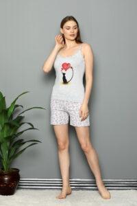 CHR 3252 szary hurtownia piżam damskich tanie piżamy damskie hurt producent piżam bawełnianych wólka hurtownia bielizny