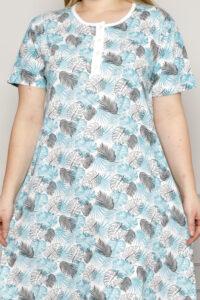 CHR 6256 błękit koszule nocne PLUS SIZE hurtownia bielizny wólka producent koszul nocnych koszule nocne hurt duman