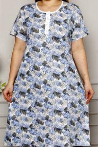 CHR 6256 niebieski koszule nocne PLUS SIZE hurtownia bielizny wólka producent koszul nocnych koszule nocne hurt duman