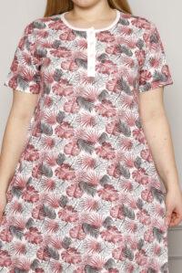 CHR 6256 róż koszule nocne PLUS SIZE hurtownia bielizny wólka producent koszul nocnych koszule nocne hurt duman