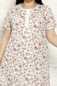 CHR 6258 malina koszule nocne PLUS SIZE hurtownia bielizny wólka producent koszul nocnych koszule nocne hurt duman