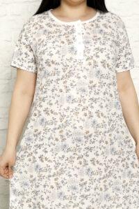 CHR 6258 niebieski koszule nocne PLUS SIZE hurtownia bielizny wólka producent koszul nocnych koszule nocne hurt duman