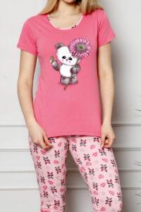 LAP 13267 malina piżama bawełaniana DUMAN pizamy hurtownia_wolka
