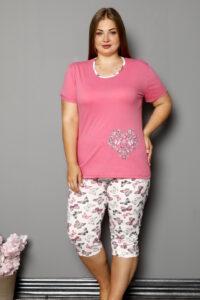 CHR 2264 roz hurtownia piżam damskich tanie piżamy damskie plus size hurt producent piżam bawełnianych wólka hurtownia bielizny-001