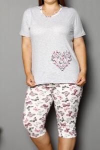 CHR 2264szary hurtownia piżam damskich tanie piżamy damskie plus size hurt producent piżam bawełnianych wólka hurtownia bielizny
