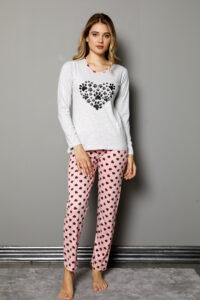 LAP 1011 hurtownia piżam damskich tanie piżamy damskie hurt producent piżam bawełnianych wólka hurtownia bielizny