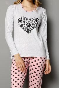 LAP 1011 hurtownia piżam tanie piżamy damskie hurt producent piżam bawełnianych wólka hurtownia bielizny
