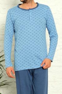 MNB 28013 niebieski hurtownia bielizny tureckiej wolka pizamy pizamy meskie hurtownia tanie pizamy hurt producent piżam męskich