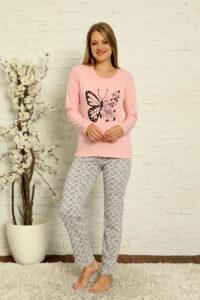 CHR 1015 róż hurtownia piżam damskich tanie piżamy damskie hurt producent piżam bawełnianych wólka hurtownia bielizny