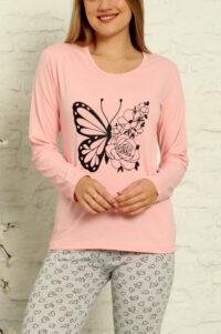 CHR 1015 róż hurtownia piżam tanie piżamy damskie hurt producent piżam bawełnianych wólka hurtownia bielizny