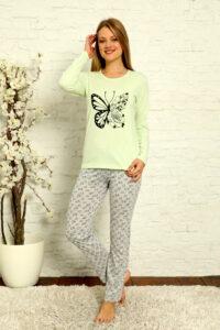 CHR 1015 zielony hurtownia piżam damskich tanie piżamy damskie hurt producent piżam bawełnianych wólka hurtownia bielizny