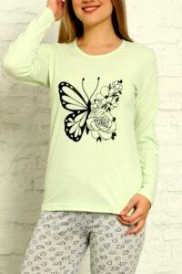 CHR 1015 zielony hurtownia piżam tanie piżamy damskie hurt producent piżam bawełnianych wólka hurtownia bielizny