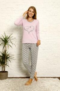 CHR 1022 fiolet hurtownia piżam damskich tanie piżamy damskie hurt producent piżam bawełnianych wólka hurtownia bielizny