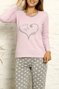 CHR 1022 fiolet hurtownia piżam tanie piżamy damskie hurt producent piżam bawełnianych wólka hurtownia bielizny