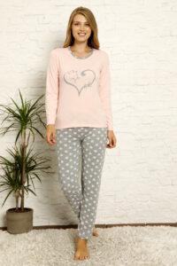 CHR 1022 morela hurtownia piżam damskich tanie piżamy damskie hurt producent piżam bawełnianych wólka hurtownia bielizny