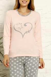 CHR 1022 morela hurtownia piżam tanie piżamy damskie hurt producent piżam bawełnianych wólka hurtownia bielizny