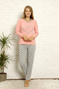 CHR 1022 róż hurtownia piżam damskich tanie piżamy damskie hurt producent piżam bawełnianych wólka hurtownia bielizny