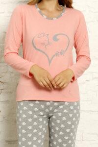 CHR 1022 róż hurtownia piżam tanie piżamy damskie hurt producent piżam bawełnianych wólka hurtownia bielizny