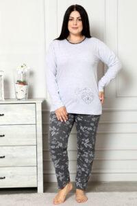 CHR 2005 szary hurtownia piżam damskich plus size tanie piżamy damskie plus size hurt producent piżam bawełnianych wólka hurtownia bielizny