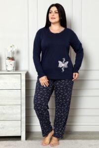 CHR 2006 granat hurtownia piżam damskich plus size tanie piżamy damskie plus size hurt producent piżam bawełnianych wólka hurtownia bielizny