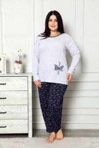 CHR 2006 szary hurtownia piżam damskich plus size tanie piżamy damskie plus size hurt producent piżam bawełnianych wólka hurtownia bielizny