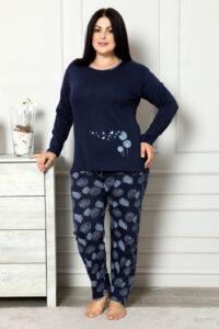 CHR 2007 granat hurtownia piżam damskich plus size tanie piżamy damskie plus size hurt producent piżam bawełnianych wólka hurtownia bielizny