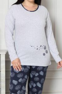 CHR 2007 szary hurtownia piżam damskich plus size tanie piżamy damskie hurt producent piżam bawełnianych wólka hurtownia bielizny