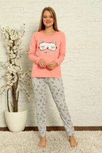 LAP 1014 róż hurtownia piżam damskich tanie piżamy damskie hurt producent piżam bawełnianych wólka hurtownia bielizny
